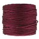 S-Lon TEX400 Heavy Bead Cord WINEBERRY - Ø 0.9 mm - Rolle...