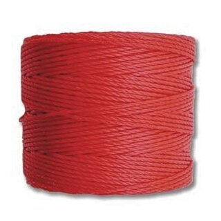 S-Lon TEX210 Bead Cord BRIGHT CORAL - Ø 0.5 mm - Rolle mit 70 Meter