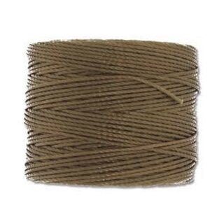 S-Lon TEX210 Bead Cord GOLDEN OLIVE - Ø 0.5 mm - Rolle mit 70 Meter