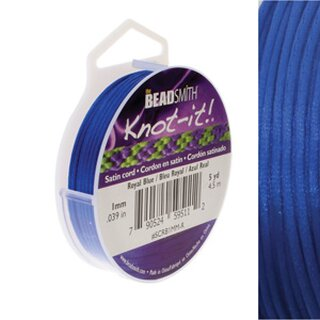 Satinkordel ROYAL BLUE Ø 1 mm - Rolle mit 4.5 Meter